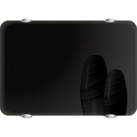 Электропанель Noirot Campa Campaver CMEP 09 SEPB 900W чёрнаяй, горизонтальная узкая